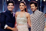 Shah Rukh Khan and Anushka Sharma walked for good friend Manish Malhotra at the Mijwan 2017 fashion show in Mumbai today. The charity show saw many Bollywood stars including Kajol, Sridevi, Huma Qureshi, Sooraj Pancholi and others.Show-stopper SRK spoke to the audience saying that he was thrilled to be a part of the show. He congratualted Shabana Azmi and the organizers for putting together such a spectacular show for a good cause.Photo: PTI
