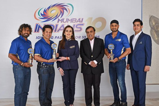 As a commemorative to the 10 glorious years, Mr Mukesh Ambani along with Sachin Tendulkar, Harbhajan Singh, Lashith Malinga, Nita Ambani and Akash Ambani joint together to release a memorabilia book encapsulating the decade long journey with interesting anecdotes, interviews and comments from all past and present Mumbai Indians cricketers.