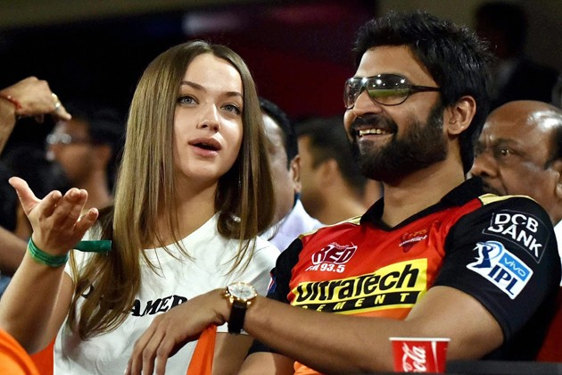 Hyderabad: Tollywood actor Sumanth at the IPL cricket match between Sunrisers Hyderabad and Kolkata Knight Riders in Hyderabad on Sunday. PTI Photo