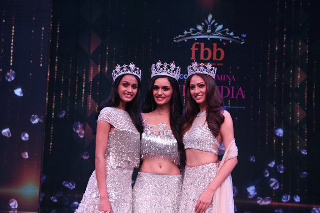 The 54th Femina Miss India World 2017 winner is Manushi Chhillar from Haryana, while the first runner-up is Sana Dua from Jammu and Kashmir and the second runner-up is Priyanka Kumari from Bihar. Manushi, born to doctor parents, studied in St. Thomas School in Delhi and Bhagat Phool Singh Government Medical College for Women in Sonepat. Photo: PTI