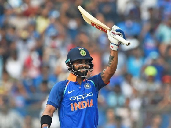 Virat Kohli made his 200th ODI special as he scored his 31st ODI hundred and continued his record-breaking march to sail past Ricky Ponting's record 30 ODI hundreds during the first India versus New Zealand ODI here at the Wankhede Stadium on Sunday. Photo: PTI