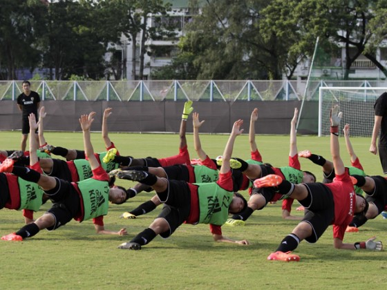 জাপান ফুটবল দলের অনুশীলন ৷ Photo: PTI