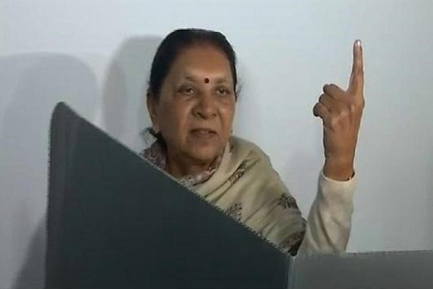 Former CM Anandiben,  Cast her Vote