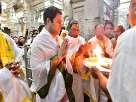 কর্ণাটকে নির্বাচনের আগে মন্দির সফরে রাহুল গান্ধি