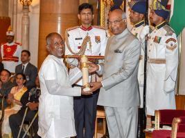 পদ্ম সম্মান প্রদান করলেন রাষ্ট্রপতি রামনাথ কোবিন্দ, দেখুন ছবি