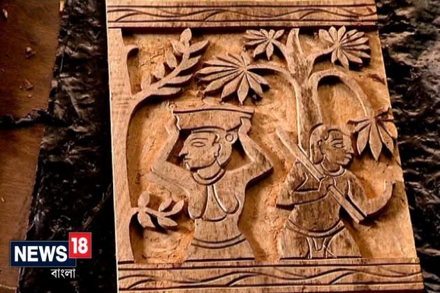 যক্ষপুরীর আদলে তৈরি করা হয়েছে মণ্ডপ