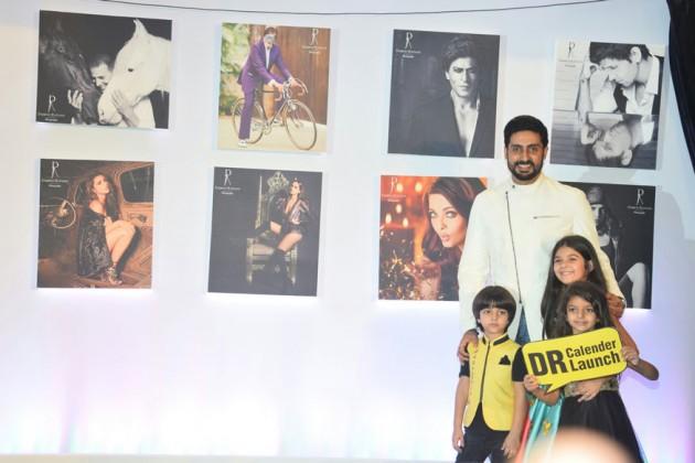 Abhishek Bachchan with childrens pose during Dabboo Ratnani's 2018 calendar launch event at JW Marriott Hotel in Mumbai. (Image: Yogen Shah)