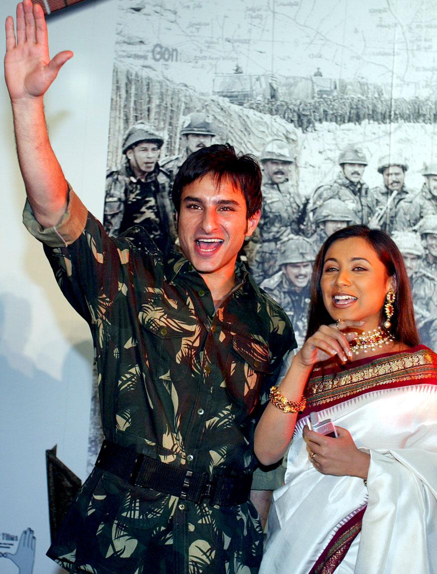 সইফ আলি খানের সঙ্গে রানি (Photo: Reuters)
