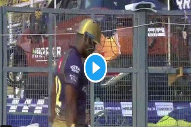 #IPL2019: KKR vs CSK: আউট হতেই মেজাজ হারালেন,যা করলেন 'মাসেল রাসেল', ভাইরাল হল ভিডিও