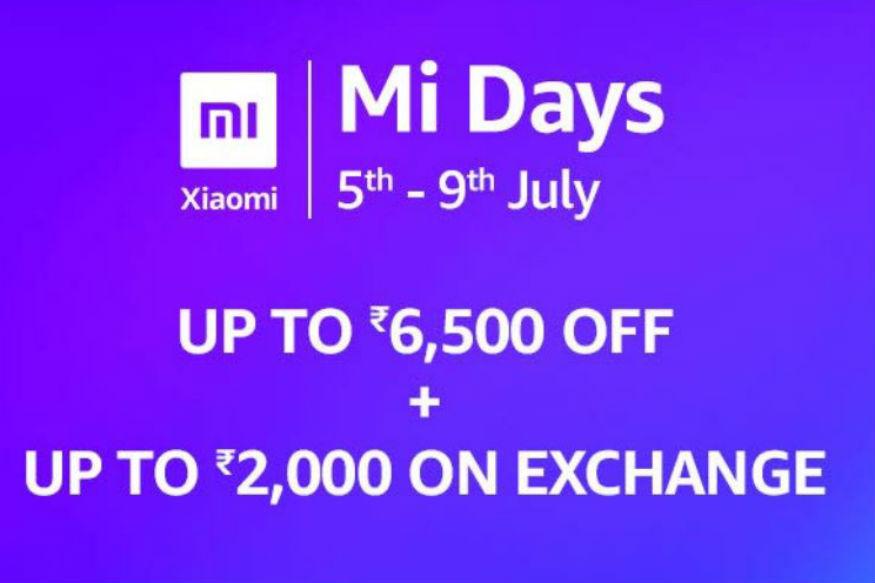 চলছে  Mi Days Sale। গ্রাহকরা এই সেলে লাভ ওঠাতে পারবেন Amazon আর  Mi.com-এ। এই সেলে Xiaomi-র ফোন কিনলে পেয়ে যাবেন 6,500 তালা পর্যন্ত ছাড়। এই সেল চলবে ৯ জুলাই অবধি।