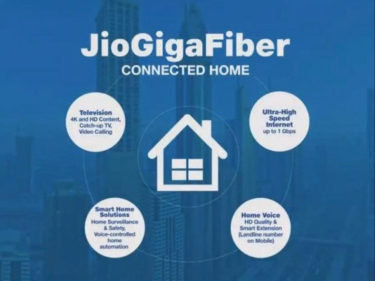 Jio GigaFiber একটি হাইস্পিড ইন্টারনেট ব্রডব্যান্ড পরিষেবা। এখানে 1 Gbps ডাউনলোড স্পিড ও 100 Mbps আপলোড স্পিড পাওয়া যাবে ৷