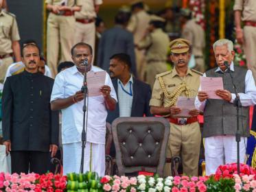 IN PICS: কর্ণাটকে মুখ্যমন্ত্রী পদে শপথগ্রহণ এইচডি কুমারস্বামীর