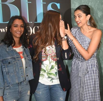 Deepika-Padukone-with-her-sister-Anisha-Padukone-with-Neha-Dhupia-for-BFFs-8