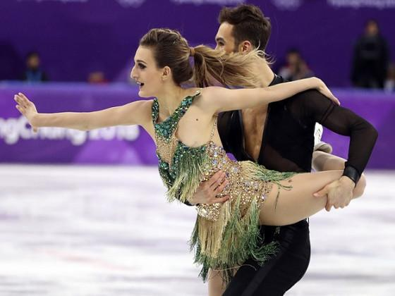 Her swinging short program with partner Guillaume Cizeron at the Pyeongchang Olympics was threatening to go down in history alongside Janet Jackson's infamous wardrobe malfunction during her halftime performance at the Super Bowl. (image: Reuters)